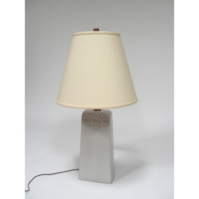 Table Lamp with sgraffito decoration by Gordon and Jane Martz For Sale - Image 9 of 10