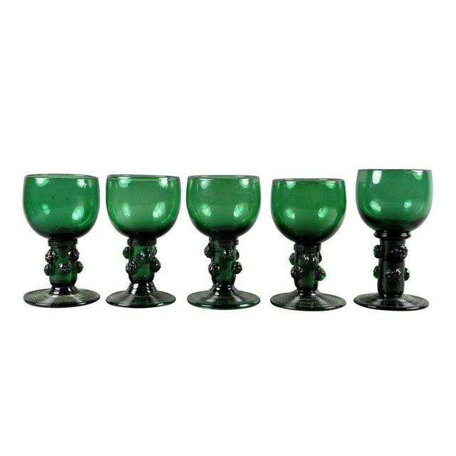Red Collection of 61 Green Glasses For Sale - Image 8 of 10