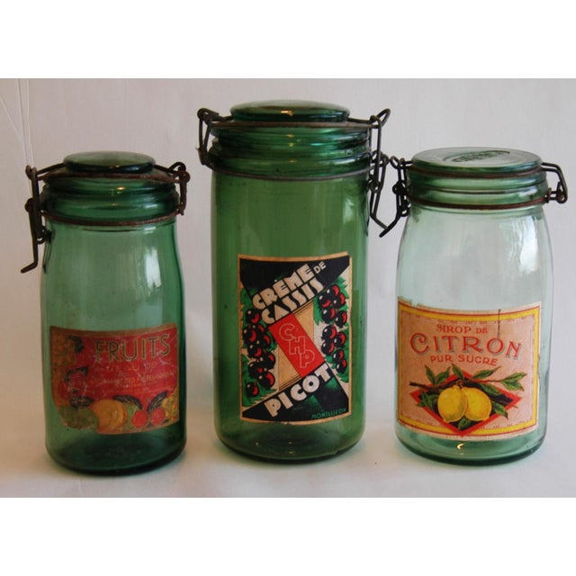 French 1930s Canning Preserve Jars - Set of 3 - Image 3 of 8