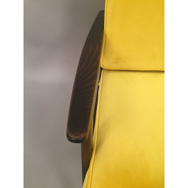 Mid-Century Modern Restored Arm Chair Velvet Cushions - Image 9 of 11