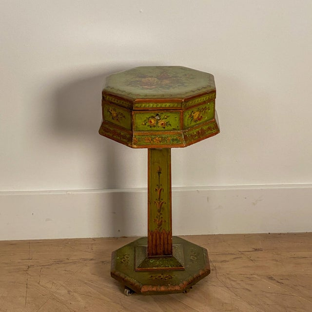 Green English Regency Painted Sewing Box, Circa 1810 For Sale - Image 8 of 8