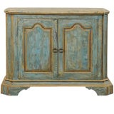Image of Custom Vintage Italian Style Two-Door Painted Wood American Buffet Console For Sale
