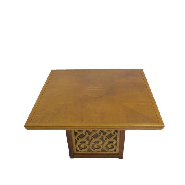 Mid 20th Century Rare Widdicomb Walnut Coffee or Cocktail Table With Decorative Base For Sale - Image 5 of 8