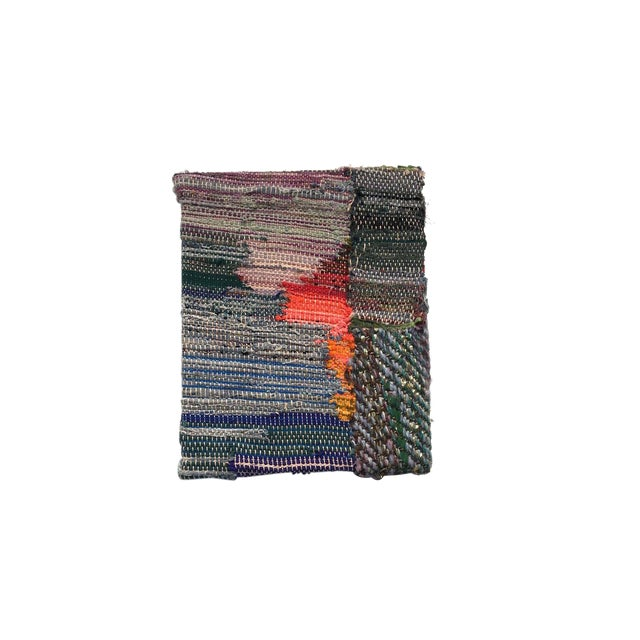 Contemporary Hand Woven Tapestry Postulate 5 by Paulaschubatis For Sale