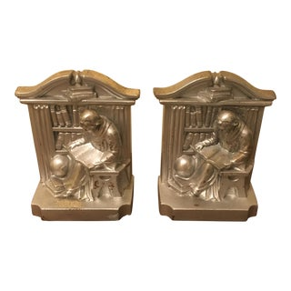 PM Craftsmen Metal Bookends - A Pair