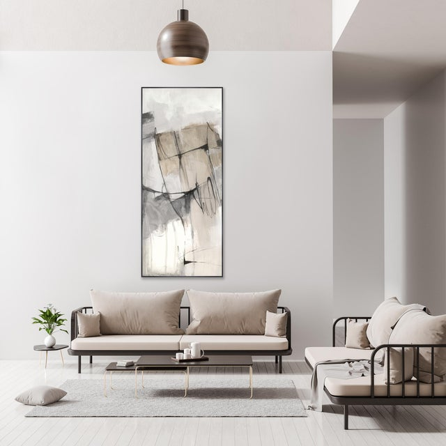 A fabulous on trend, wonderfully colored gallery-wrapped giclee print on canvas by artisit Jacob Lincoln. It is hand...