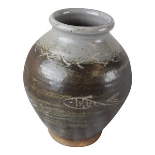 Early 20th Century Vintage Rustic Fish Vase For Sale