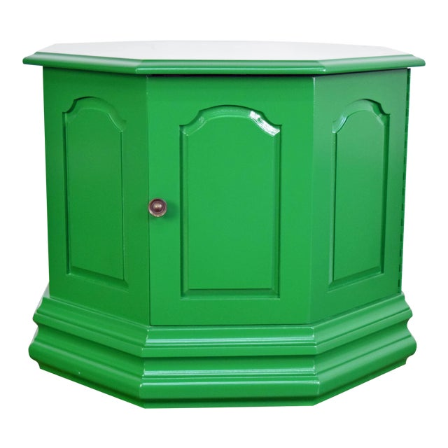 Bottle Green Fine Paints of Europe High Gloss Green Side Table For Sale