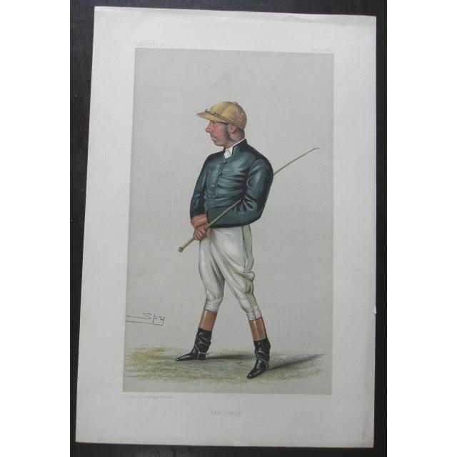 1882 Vanity Fair Jockey Print - The Demon - Image 2 of 2