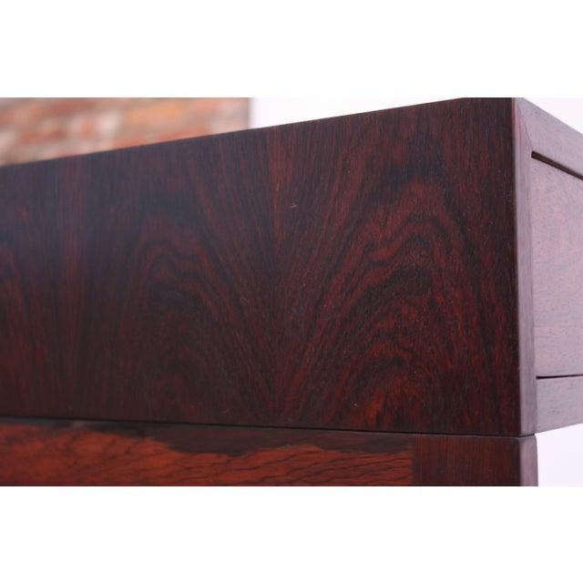 Rosewood Diminutive Danish Modern Rosewood Desk by EJM Skive For Sale - Image 7 of 12