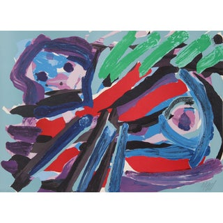 Karel Appel - Walking With My Bird - Lithograph For Sale
