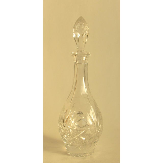 1990s Vintage Traditional Lead Crystal Decanter For Sale - Image 5 of 5