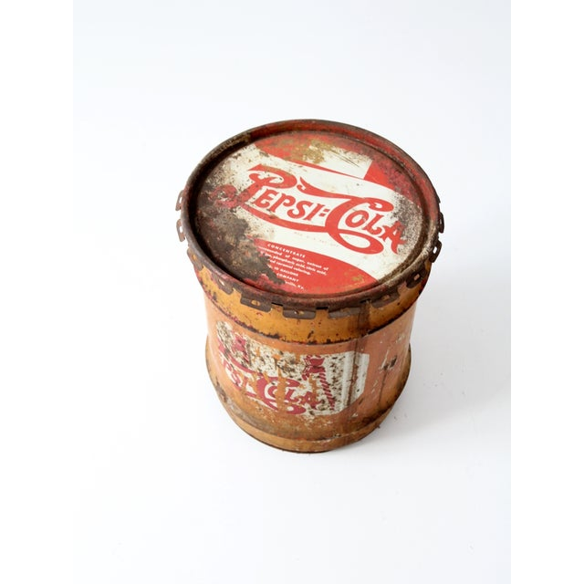 Brown Vintage Pepsi-Cola Syrup Can For Sale - Image 8 of 8