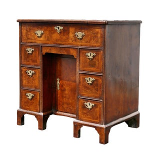 George I Walnut Kneehole Desk For Sale