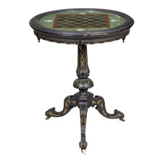 Fine Eglomise Games Table