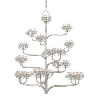Agave Americana Silver Chandelier For Sale