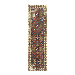 19th Century Tribal Caucasian Runner, 2'7'' X 9'3'' For Sale