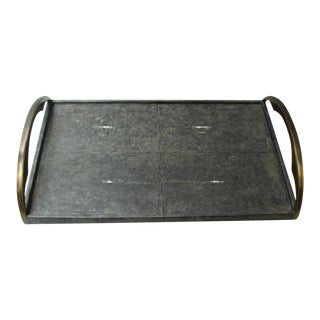 R & Y Augousti Shagreen Stingray Tray For Sale