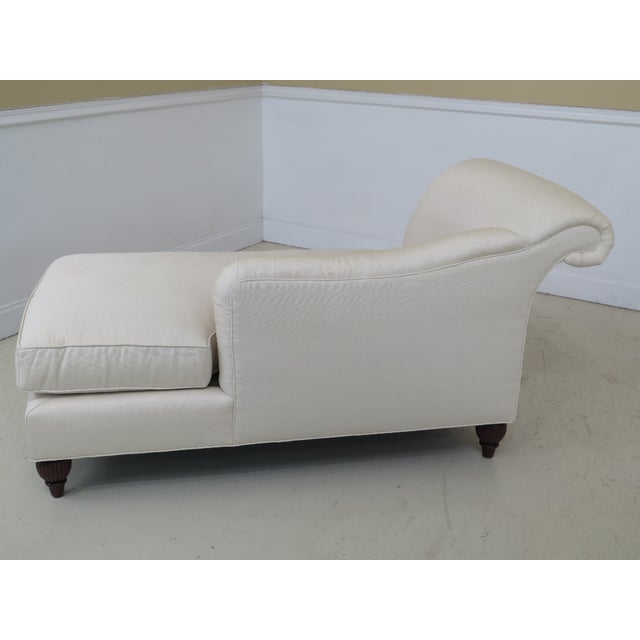 Baker Furniture Company Baker Off-White Upholstered Chaise Lounge For Sale - Image 4 of 11