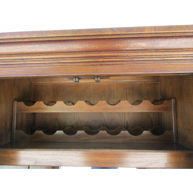 Drexel Lighted Bar Cabinet With Wine Rack - Image 6 of 12