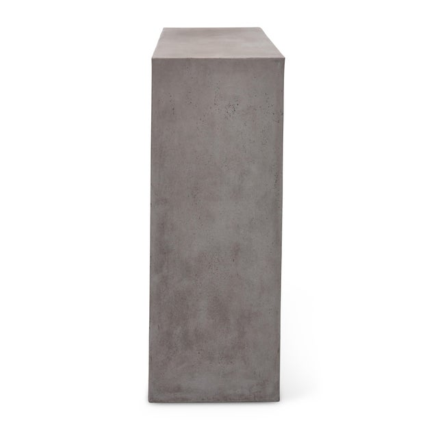 Concrete Kelly Console, Dark Grey For Sale - Image 7 of 12