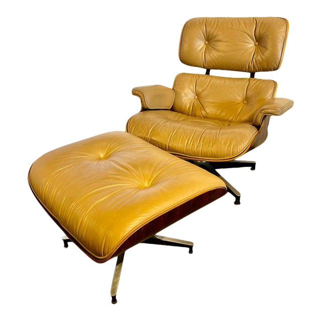 Charles Eames, Herman Miller Midcentury Chair and Ottoman For Sale