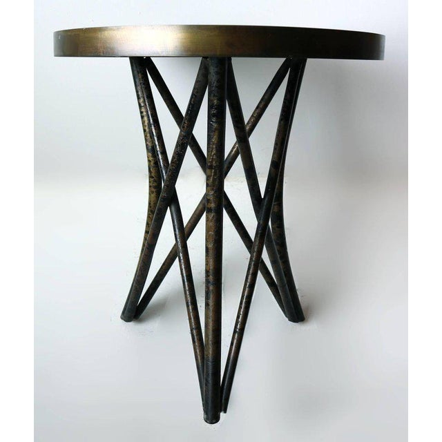 Philip and Kelvin LaVerne 'Still Life' Side Table in Patinated Bronze For Sale - Image 9 of 10