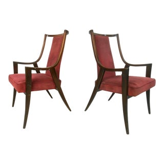 t.h. Robsjohn-Gibbings Style Mid Century Armchairs For Sale