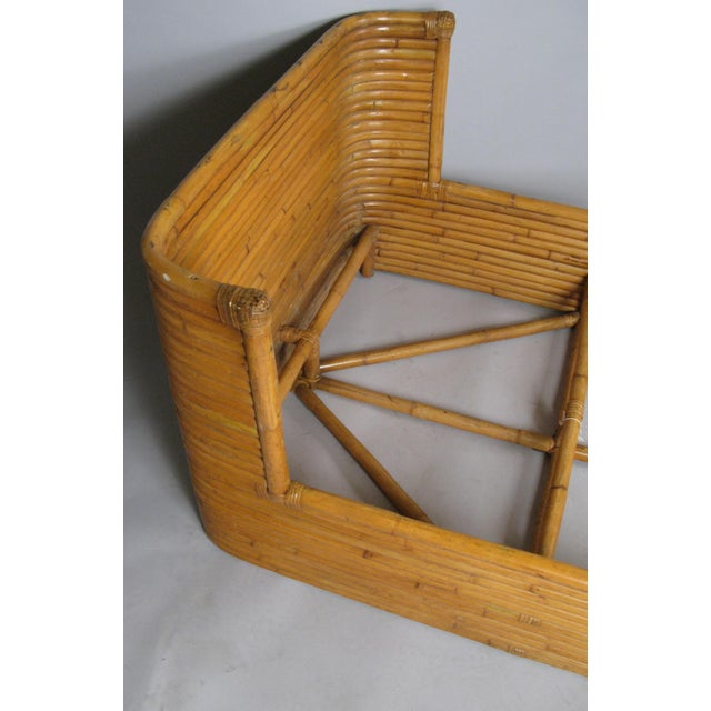 1940s 1940s Boho Chic Rattan Twin Bed With Curved Corners For Sale - Image 5 of 7