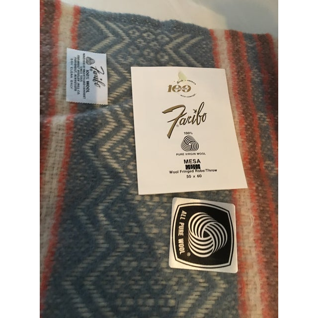 Vintage Southwestern Faribo Mesa Wool Blanket/Throw For Sale - Image 4 of 6