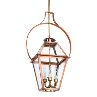 Lantern & Scroll Charleston Hanging Yoke Lantern, Copper