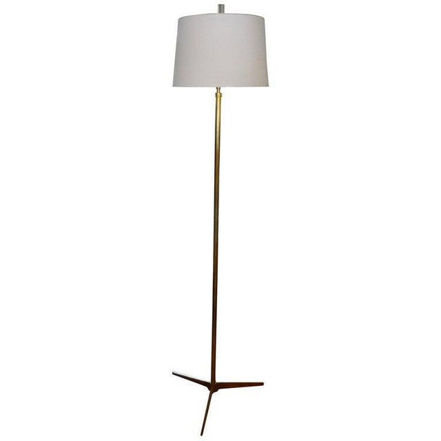 Mid-Century Modern Paul McCobb Style Brass Tripod Floor Lamp For Sale - Image 11 of 12