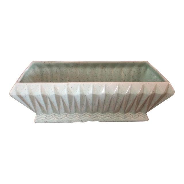 Final Price! Vintage Light Green Brush Usa Pottery Planter For Sale