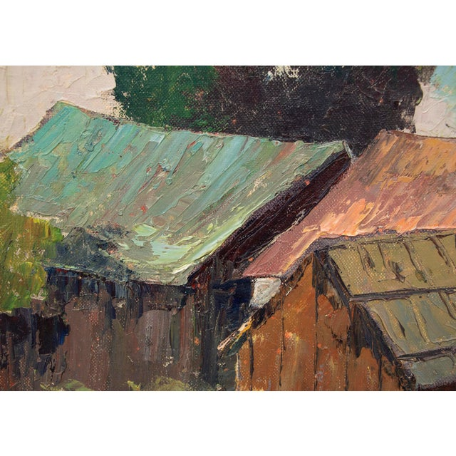 "Original ""Old Barns, Southern California"" Oil Painting by Jon Blanchette For Sale - Image 4 of 9"