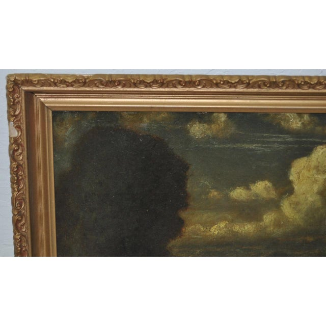 English Traditional 19th C. Country Landscape w/ Cows & Figure For Sale - Image 3 of 9