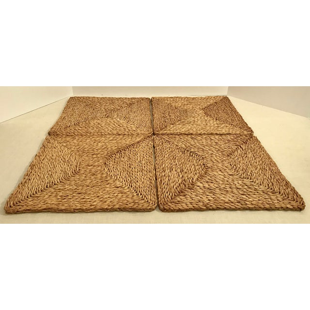 Vintage Woven Straw Placemats- Set of 4 For Sale - Image 5 of 7