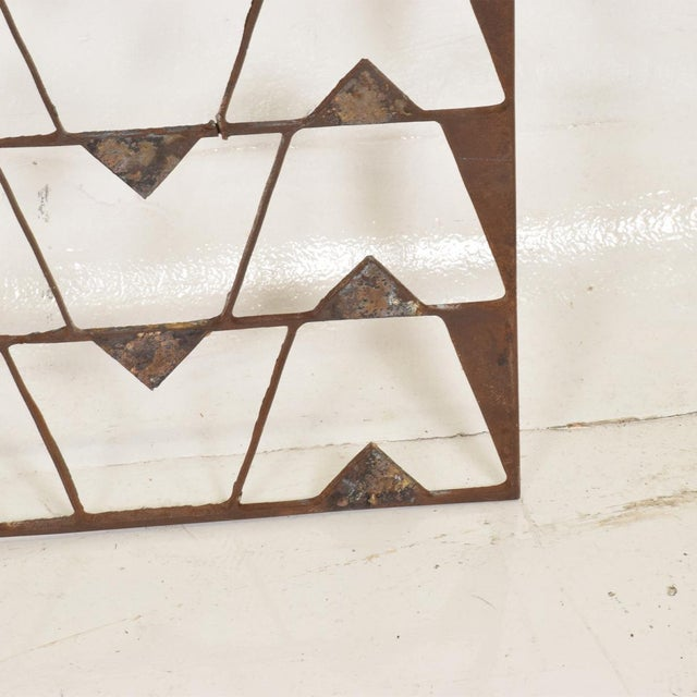 Boho Chic Mexican Modernist Metal Art Room Divider Screen For Sale - Image 3 of 9