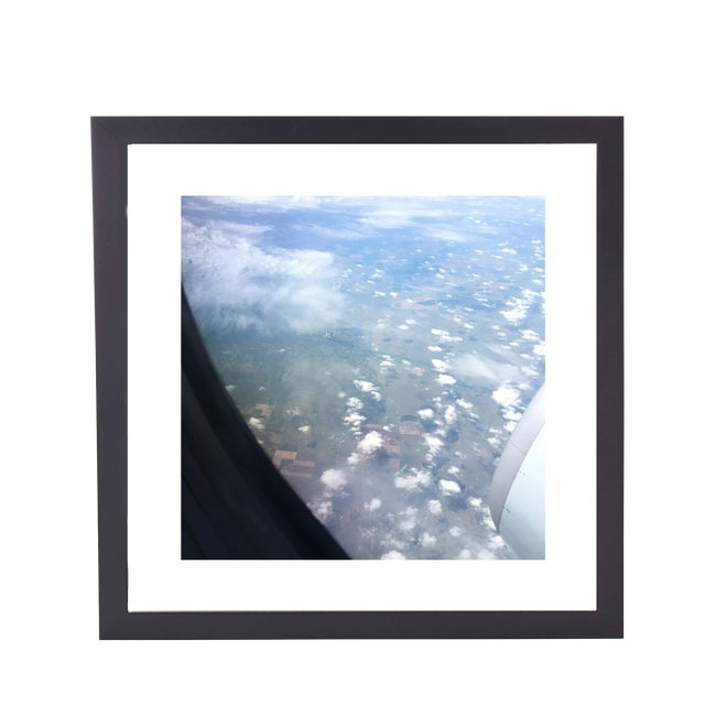 "Limited Edition Framed 23"" X 23"" Wall Art Is Titled ""Tiny Plane"" by Artist B. Leeds For Sale"