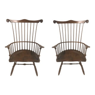 Pair of Early American Windsor Chairs For Sale