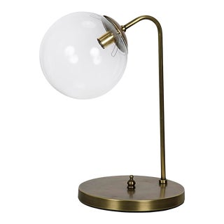 Knick Table Lamp, Antique Brass For Sale