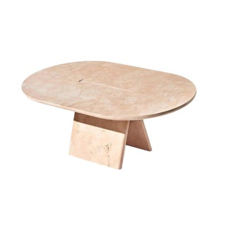 Lasta Coffee Table or Side Table Table Low in Pink Marble by Alberto Bellamoli For Sale