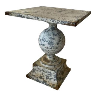 Zinc Garden Table For Sale