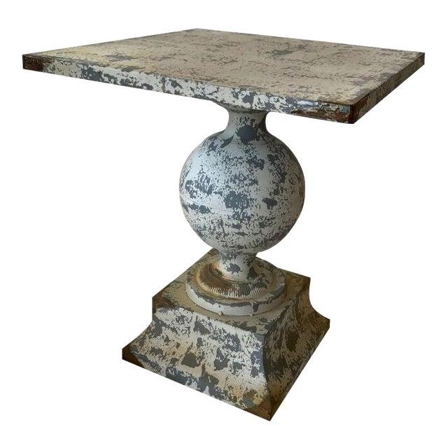Zinc Garden Table For Sale
