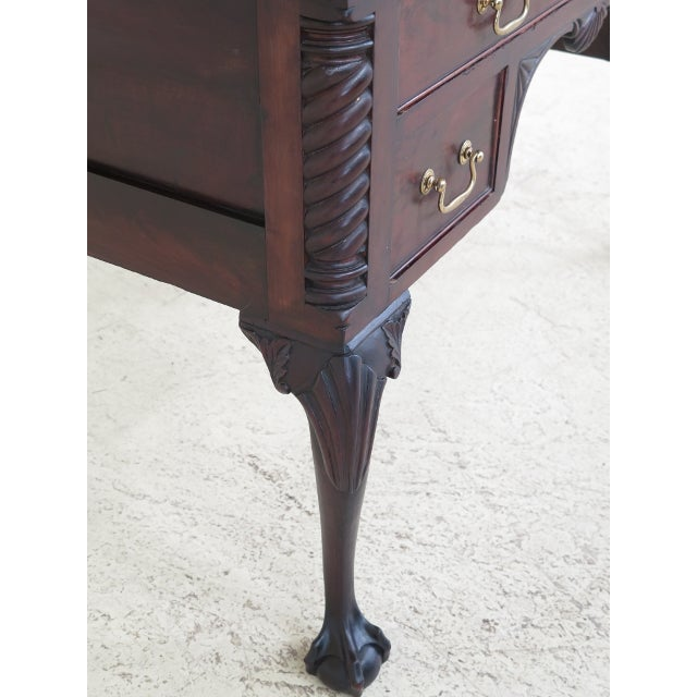Mahogany Chippendale Style Traditional Ball & Claw Mahogany Desk or Vanity For Sale - Image 7 of 13