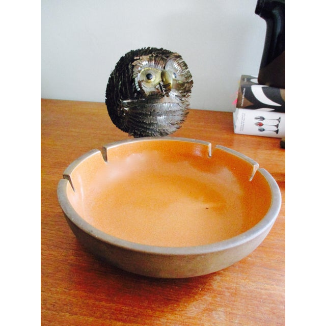 Heath Pottery Orange Ashtray - Image 6 of 11