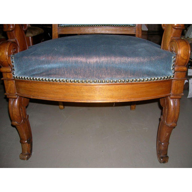 Restauration Period Armchair For Sale In Boston - Image 6 of 11