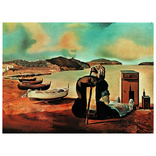 "1957 Salvador Dalí, ""Le Sevrage Du Meuble Aliment"" Large Period Lithograph Print For Sale"