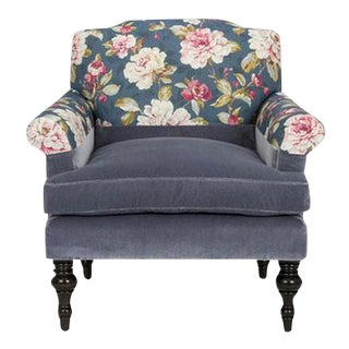 Kim Salmela Blue Floral Chair