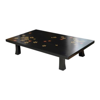 Mid 20th Century Black Asian Style Coffee Table For Sale