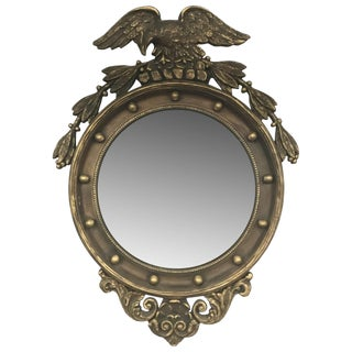 English Gilded Convex Mirror For Sale